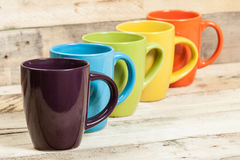 Color cups. Royalty Free Stock Images