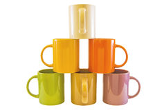 Color cups . Royalty Free Stock Photos