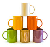 Color cups . Royalty Free Stock Photo