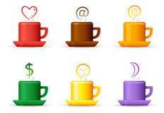 Color cups, strem icons Stock Images