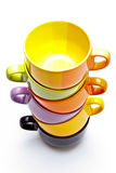 Color cups tower Stock Images