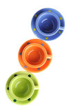 Color cups up views Stock Photography
