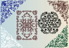Color curled design elements Stock Photos