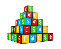 Color Currency Pyramid Stock Images