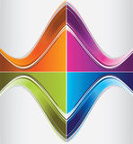 Color curve backgrounds. The vector illustration contains the image of color curve backgrounds Royalty Free Stock Image