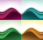 Color curve backgrounds Royalty Free Stock Images