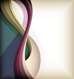 Color curve lines background Stock Images