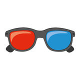 Color 3d glasses cinema movie icon. Illustraction design Royalty Free Stock Image