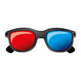 Color 3d glasses cinema movie icon. Illustraction design Royalty Free Stock Photography