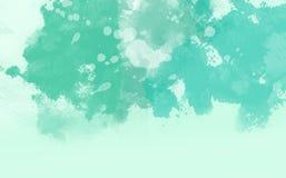 Color de agua abstracto, fondo suave verde Fotos de archivo libres de regalías