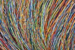 Color de cables Imagenes de archivo