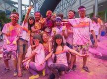 Color de Chongqing Exhibition Center corrido en gente joven Foto de archivo