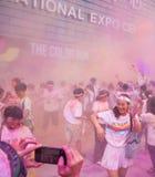 Color de Chongqing Exhibition Center corrido en gente joven Fotografía de archivo libre de regalías