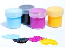 Color de CMYK Imagen de archivo libre de regalías