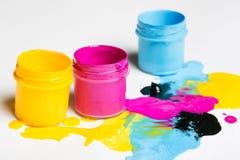 Color de CMYK Foto de archivo libre de regalías