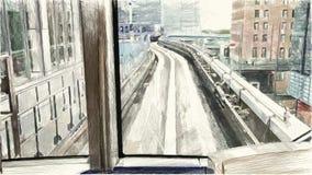 Color de dibujo del ferrocarril