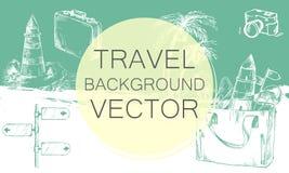 Color de fondo del viaje ilustración del vector