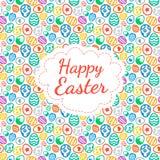 Color de fondo feliz de tarjeta de felicitación de Pascua del modelo inconsútil de los huevos Imagenes de archivo