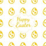 Color de fondo feliz de tarjeta de felicitación de Pascua del modelo inconsútil de los huevos Fotografía de archivo libre de regalías