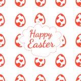 Color de fondo feliz de tarjeta de felicitación de Pascua del modelo inconsútil de los huevos Foto de archivo