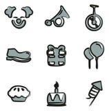 Color de Icons Freehand 2 del payaso Imágenes de archivo libres de regalías