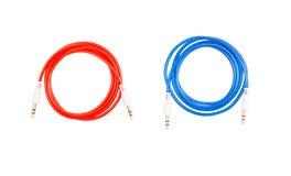 Color de Jack del cable de audio en a Fotos de archivo