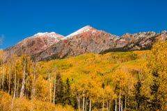 Color de la caída en la mota con cresta Colorado Imágenes de archivo libres de regalías