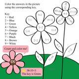 Color de la cuenta de la matemáticas Foto de archivo libre de regalías