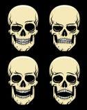 Color de la emoción del cráneo stock de ilustración