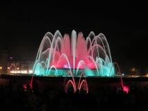 Color de la fuente de Barcelona Foto de archivo