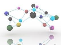 color de la molécula en el fondo blanco de la ciencia Imágenes de archivo libres de regalías