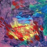 Color de la naturaleza - represente el petróleo en lona ilustración del vector