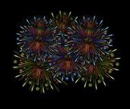 Color de la noche de los fuegos artificiales Fotografía de archivo