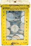 Color de la plata y del oro de monedas malasias Fotos de archivo libres de regalías