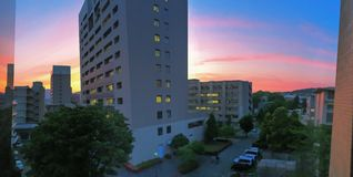 Color de la puesta del sol Fotos de archivo libres de regalías
