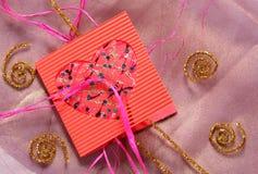 Color de la tarjeta del día de San Valentín foto de archivo