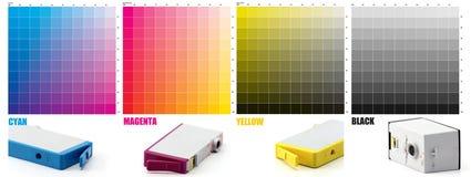 Color de la tinta de CMYK Fotos de archivo libres de regalías