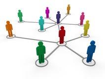 color de las personas de la red 3d Fotos de archivo libres de regalías