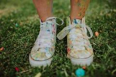 Color de las zapatillas de deporte Imagen de archivo