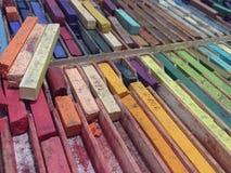Color de los creyones Fotos de archivo