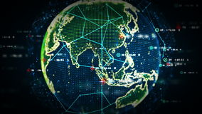 Color de los datos del mundo de Digitaces libre illustration