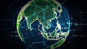 color de los datos del mundo de 4K Digitaces