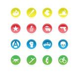 Color de los iconos de la protesta Imagen de archivo libre de regalías
