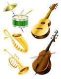 Color de los instrumentos de música Imagen de archivo