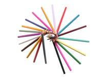 Color de los lápices Fotografía de archivo