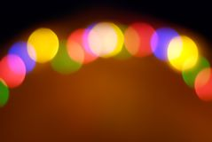 Color de luces Foto de archivo libre de regalías