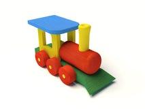 Color de madera del tren del juguete Imagen de archivo libre de regalías