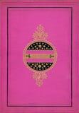 Color de rosa brillante y marco decorativo del oro imagen de archivo
