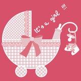 Color de rosa de bebé llevado stock de ilustración