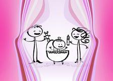 Color de rosa de bebé Imágenes de archivo libres de regalías